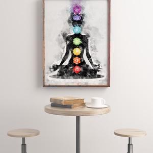 Csakrák falikép, poszter, Otthon & Lakás, Kép & Falikép, Dekoráció, Fotó, grafika, rajz, illusztráció, Meska