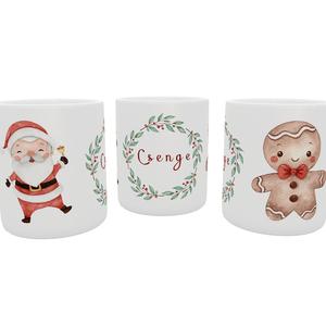 Névreszóló karácsonyis, télapós bögre, mintás bögre, Otthon & Lakás, Konyhafelszerelés, Bögre & Csésze, Decoupage, transzfer és szalvétatechnika, Fotó, grafika, rajz, illusztráció, Bögrére mindig szükség van.\n\nÉlvezd a kedvenc italod a világ egyik legcukibb börgéjéből kortyolgatva..., Meska