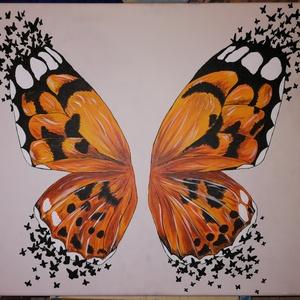 Pillangó-hatás, Művészet, Festmény, Akril, Festészet, A megannyi csodás teremtmény közül egyik kedvencem a pillangó, melyet némi absztrakt megjelenéssel f..., Meska