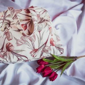Elegáns tulipános válltáska, Táska, Divat & Szépség, Táska, Válltáska, oldaltáska, Varrás, Elegáns tulipános válltáska\n\nErős vászonból készült. Belül bélés, egy cipzáras, egy osztott, és egy ..., Meska