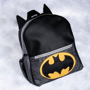 Batman-es hátitáska, Táska, Divat & Szépség, Táska, Hátizsák, Varrás, Textilbőrből és víztaszító anyagból készült , merevített hátitáska az apró szuperhősöknek :) \nElöl, ..., Meska