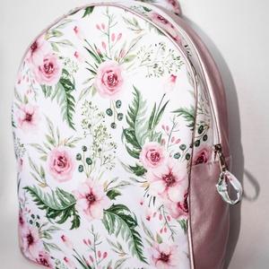 Rose gold, virágos hátizsák, Táska & Tok, Hátizsák, Hátizsák, Varrás, Meska