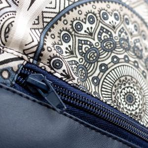 Egyedi hátitáska - szürke - kék mandala mintás - táska & tok - hátizsák - hátizsák - Meska.hu