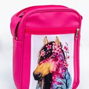 Pink, lovas  kis oldaltáska - Meska.hu