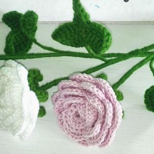 Horgolt Rózsa csokor 3 szál virággal, Otthon & lakás, Dekoráció, Csokor, Lakberendezés, Horgolás, Horgolt örök rózsát ajándékozhatsz szülinapra, névnapra, Ballagásra, anyák napjára vagy Pedagógus na..., Meska