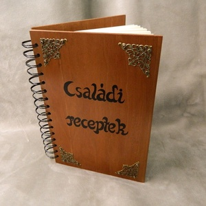 Receptes könyv, Egyéb, Csináld magad leírások, Esküvő, Nászajándék, Otthon & lakás, Konyhafelszerelés, Receptfüzet, Famegmunkálás, Cseresznye színfurnéros fából készült könyv.  Régi családi sütemények , hagyományos ételek receptjei..., Meska