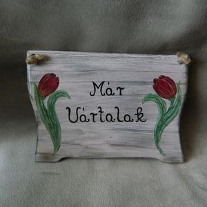 Ajtó tábla, üdvözlő tábla - Meska.hu