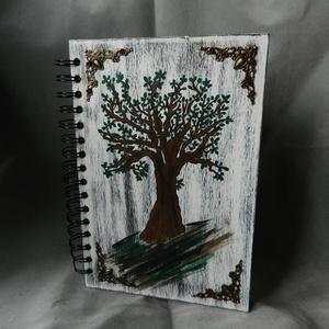 Napló fából, Jegyzetfüzet & Napló, Papír írószer, Otthon & Lakás, Famegmunkálás, Fából készült könyv.  A 5 méretben. \n Akár ajándéknak vagy emléknek.\nA/ 5 méretű vajszínű sima lapok..., Meska