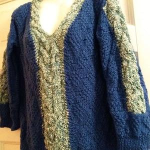 Női pulóver , Pulóver & Kardigán, Női ruha, Ruha & Divat, Kötés, Kézzel kötött elegáns női pulóver , alak és formatartó kellemes viselet. , Meska