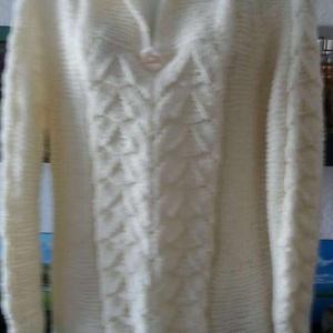 Női pulóver , Pulóver & Kardigán, Női ruha, Ruha & Divat, Kötés, Kézzel kötött női pulóver. Alak és formatartó, csinos, kellemes viselet.  , Meska