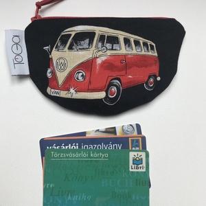 Volkswagen busz mintás pénztárca / VW buszos kártyatartó - táska & tok - pénztárca & más tok - pénztárca - Meska.hu