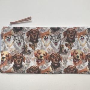 Kutya mintás tolltartó, szemüvegtok, neszesszer, Ovi- és sulikezdés, Tolltartó & Ceruzatekercs, Varrás, Meska