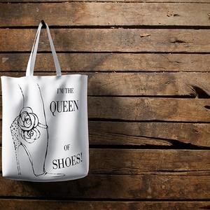 Shopping bag egyedi mintával, Illusztráció, Képzőművészet, Otthon & lakás, Fotó, grafika, rajz, illusztráció, Gyönyörű bevásárló táska 100% pamut alapanyagból egyedi művészi mintával. A vászontáska készen vásár..., Meska