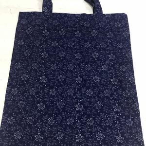 Kékfestő bevásárló szatyor, Táska & Tok, Bevásárlás & Shopper táska, Shopper, textiltáska, szatyor, Saját készítésű, eredeti kékfestő anyagunkból készült szatyor, búzavirágos mintával. Mosógépben mosh..., Meska