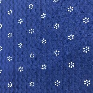 Kékfestő méteráru darázsszövet, Textil, Pamut, Mindenmás, Hagyományos technikával készült, eredeti kékfestő darázsszövet anyag! Mosógépben mosható 60 fokig, n..., Meska