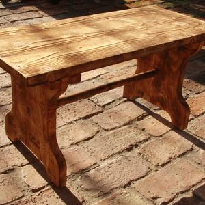 Pad, rusztikus pad, Kispad, Otthon & lakás, Bútor, Pad, Rusztikus Kispad.  A fa textúrája a speciális felületkezelésnek köszönhetően térben kiemelkedik, tap..., Meska