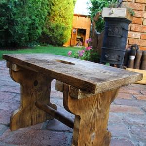 Sámli, kisszék,, Otthon & lakás, Bútor, Szék, fotel, Rusztikus Sámli A fa textúrája a speciális felületkezelésnek köszönhetően térben kiemelkedik, tapint..., Meska