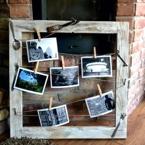 """""""Vintage"""" keret, , Otthon & lakás, Lakberendezés, Képkeret, tükör, """"Vintage"""" stílusú keret madzagra csiptetett  képekhez.  Gyönyörű megoldás azoknak, akik """"vintage"""" va..., Meska"""