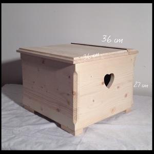 Doboz, láda natúr Rendelhető, Fa, Doboz, Famegmunkálás, Fából készült kézműves láda rendelhető több színben!  Méretek: 36*36*27 cm  Igény esetén más mintát..., Alkotók boltja