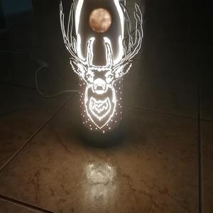 Lámpa, Hangulatlámpa, Lámpa, Otthon & Lakás, Gravírozás, pirográfia, Pvc-csőből gravírozó készülék segítségével készült vidám, hangulatos lámpa.\n3D hatás elérése érdekéb..., Meska