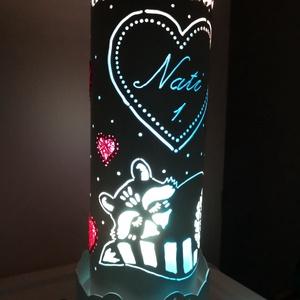 """Gyerek lámpa, Hangulatlámpa, Lámpa, Otthon & Lakás, Gravírozás, pirográfia, \nPvc-csőből gravírozó készülék segítségével készült vidám, hangulatos, \""""gyerek-lámpa\"""" mosómacis mint..., Meska"""