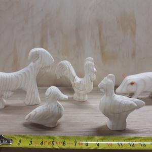 Háztáji állatok, Játék & Gyerek, Plüssállat & Játékfigura, Más figura, Famegmunkálás, Festhető játékok. A képen látható 5db játék figura, együtt kaphatok., Meska
