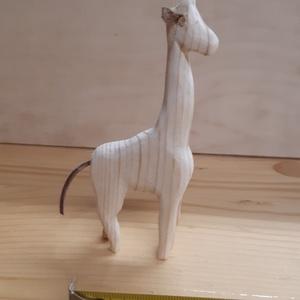 Zsiráf, Játék & Gyerek, Famegmunkálás, Fenyőfából készült festhető figura , Meska