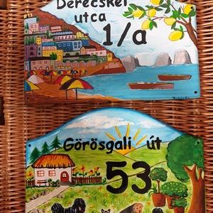 Házszám tábla A4 méretben - Meska.hu