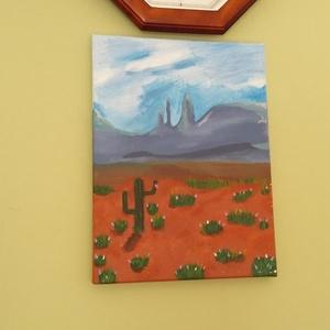 Arizona 01, Dekoráció, Otthon & lakás, Kép, Festészet, Egyedi festett vászonkép. 30×40cm-es.\nSzállítás csomag küldön keresztül, fizetés előre utalással. ..., Meska