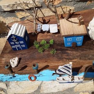 Még mindig nyár! Tengerpart uszadékfa kérgen., Otthon & lakás, NoWaste, Dekoráció, Dísz, Lakberendezés, Asztaldísz, Mindenmás, Famegmunkálás, Egy uszadékfa kéregre álmodtam meg ezt az egyedi, Shabby/Vintage stílusú tengerparti részletet. A há..., Meska