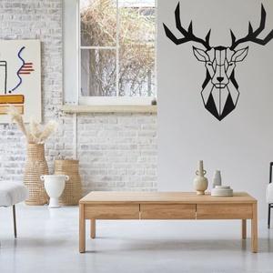 Rudolph a szarvas, Otthon & Lakás, Dekoráció, Falra akasztható dekor, Fémmegmunkálás, Rudolph a szarvas fém fali dekoráció.\nA termékek 2mm vastagságú fémlemezből készülnek melyet lézervá..., Meska
