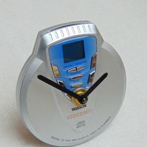Retro Watson MP3 walkman CD lejátszó aszali vagy fali óra zenészeknek, DJ -nek, zene rajongóknak, férfiaknak - 2 (Trashman) - Meska.hu