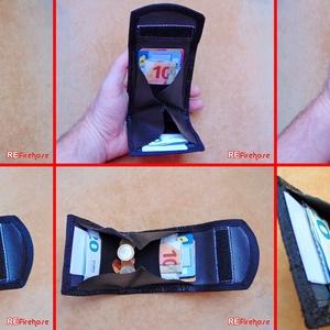 Tűzoltó tömlő pénztárca bankkártya névjegy aprópénz irattartó biztonságos kis pénz tárca nem csak férfiaknak - AQUARIUS (Trashman) - Meska.hu
