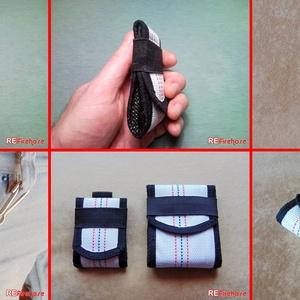 Tűzoltó tömlő mini pénztárca papírpénz aprópénz tartó praktikus minimál méretű biztonságos pénz tárca - AQUARIUS MINI (Trashman) - Meska.hu