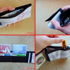 Férfi pénztárca tűzoltó tömlőből piros Flórián kereszttel bankkártya névjegy irattartó praktikus ajándék tűzoltóknak (Trashman) - Meska.hu