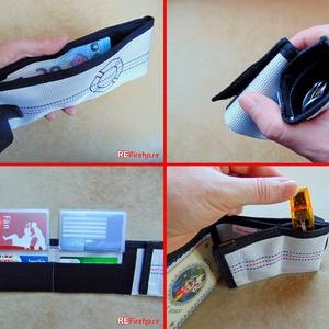 Férfi pénztárca tűzoltó tömlőből fekete Flórián kereszttel bankkártya névjegy irattartó praktikus ajándék tűzoltóknak - Meska.hu