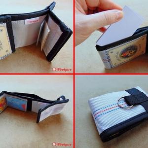 Férfi pénztárca tűzoltó tömlőből fekete Flórián kereszttel bankkártya névjegy irattartó praktikus ajándék tűzoltóknak (Trashman) - Meska.hu