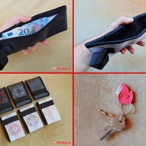 Fehér férfi pénztárca tűzoltó tömlőből bankkártya névjegy irattartó hasznos és praktikus ajándék férfiaknak férjeknek (Trashman) - Meska.hu