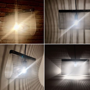 Ipari stílusú fém rácsos mennyezeti függő lámpa, fali éjjeli lámpa, design loft lámpa, árnyékot vető csillár (Trashman) - Meska.hu
