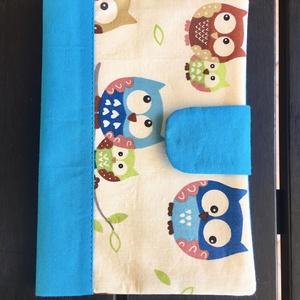 Kék baglyos - Egészségügyi kiskönyv borító, Gyerek & játék, Táska, Divat & Szépség, Táska, Pénztárca, tok, tárca, Varrás, Praktikus borító amely megvédi a gyermekünk oltási könyvét a szamárfülesedéstől a koszolódástól és ..., Meska