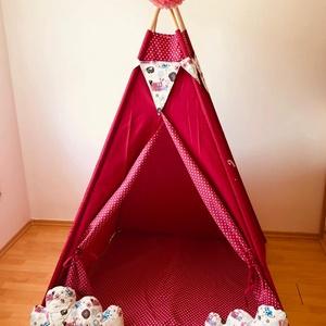 Pink kutyás indián sátor , Gyerek & játék, Gyerekszoba, Gyerekbútor, Varrás, Ugye Te is emlékszel arra, hogy mennyire jó érzés volt bújócskázni vagy elbújni a szüleid elől? Bunk..., Meska