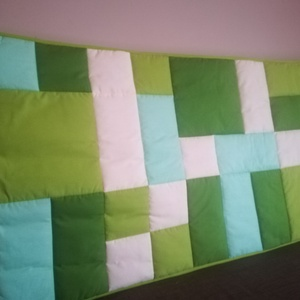 Zöld patchwork falvédő  (Trippobeata) - Meska.hu