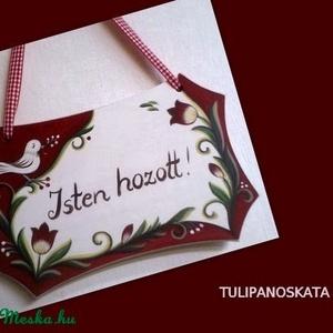 Madaras, tulipános üdvözlő tábla , névtábla (tulipanoskata) - Meska.hu