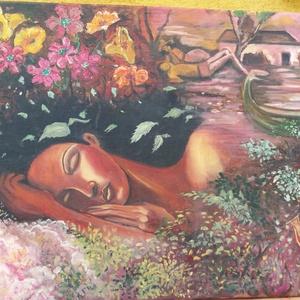 Álom, Otthon & lakás, Képzőművészet, Festmény, Olajfestmény, Festészet, Olajfestmény, vászon\nMéret: 50x70 cm\nKeret nélkül, Meska