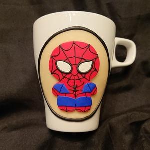 Mese játék figura mintás bögre gyurma díszítéssel Pókember Spider Man , Otthon & Lakás, Konyhafelszerelés, Bögre & Csésze, Gyurma, Mindenmás, Süthető ékszer gyurmából kézzel formázott mintával díszített bögre. \nKözkedvelt játék és mese szerep..., Meska