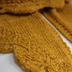 Aranyló levelek  -kézzel font fonalból  kötött sál (Tunder17) - Meska.hu