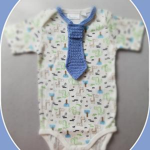Horgolt baba nyakkendő  - Meska.hu