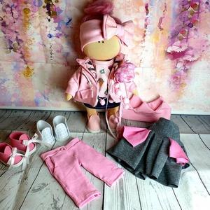 Öltöztethető textil baba ruhákkal, Gyerek & játék, Játék, Baba, babaház, Játékfigura, Varrás, Teljesen öltöztethető textil baba. A fejdísz a gyaojú haj miatt ezen a babán nem levehető! Keze, láb..., Meska