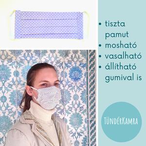 Pettyes - arcmaszk leforrázható vasalható szájmaszk, NoWaste, Táska, Divat & Szépség, Textilek, Szépség(ápolás), Egészségmegőrzés, Maszk, szájmaszk, Lila pettyes maszk női méretben  MINDEN MASZKUNK - 70 fokon mosható, vasalható - 2 rétegű tiszta pam..., Meska