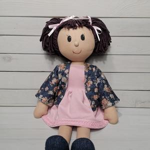 Öltöztethető baba (55 cm-es), Gyerek & játék, Játék, Baba, babaház, Játékfigura, Plüssállat, rongyjáték, Baba-és bábkészítés, Varrás, Különleges, részletesen kidolgozott, kézzel készült egyedi termék.\n\nA baba öltöztethető, ezért kivál..., Meska